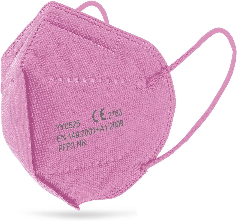 Mascarilla FFP2 Rosa Ultra Protección, caja de 25 unidades +tarjeta anticontactto Hygicard envio desde España