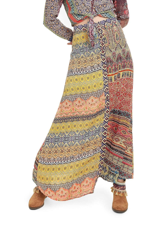 Desigual Falda Mujer Naranja: Amazon.es: Ropa y accesorios