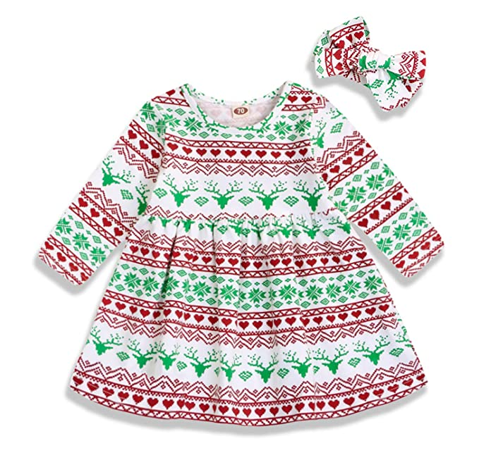 Amazon.com: Mini miel 2 piezas bebé niña algodón manga larga ...