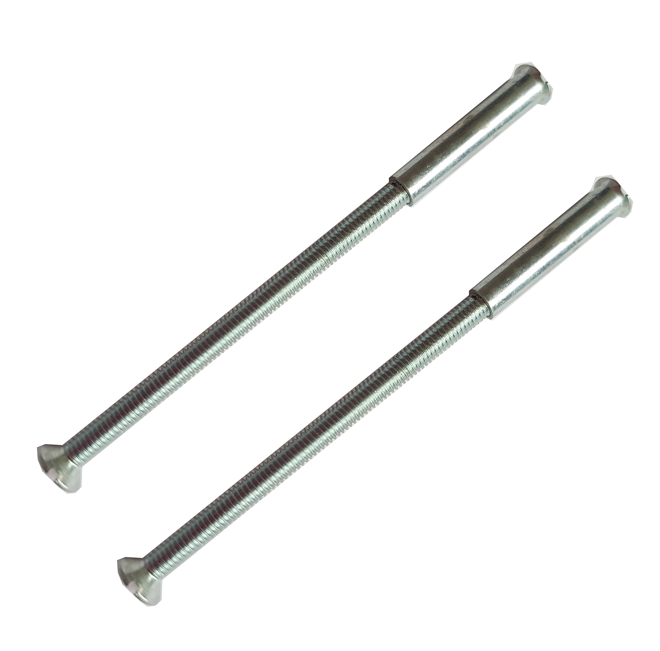 2 x M3 Screws Connecting Bolts and Sleeve for Fixing Door Handles, Knobs and Others (Silver)