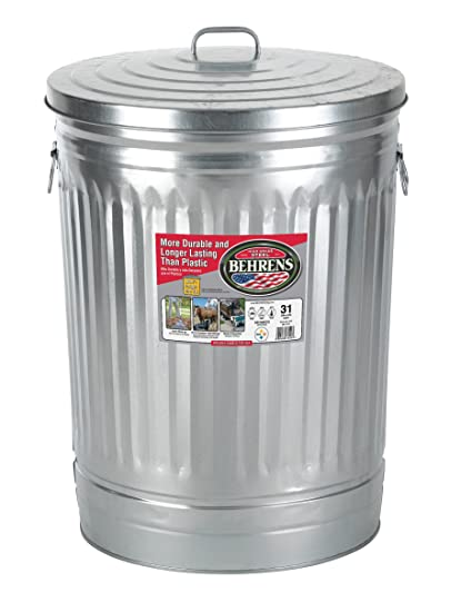 Amazoncom Behrens 1270 31 Gallon Trash Can With Lid Lidded Home