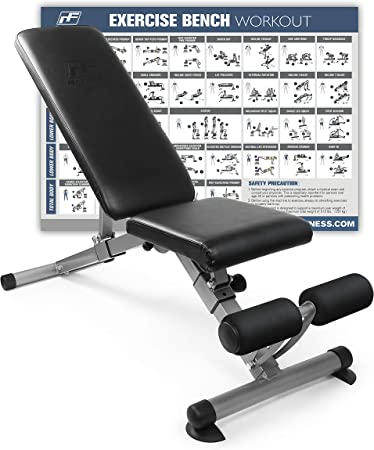 side facing ritfit Foldable Utility Weight Bench