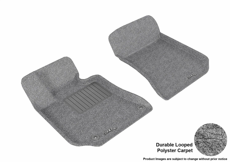Gray L1MB05712201 Classic Carpet 3D MAXpider Front Row Custom Fit Floor Mat for Select Mercedes-Benz E-Class W212 Models