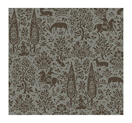 York Wallcoverings Ap7451smp Silhouettes Woodland Tapestry