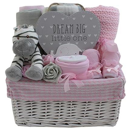 Cesta de regalo para bebé, niña o bebé, regalo para recién nacido ...