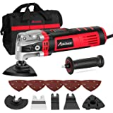 AVID POWER Oscillating Tool, 3.5-Amp Oscillating Multi Tool with 4.5°Oscillation Angle, 6 Variable Speeds and 13pcs Saw Acces