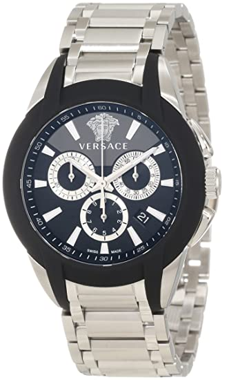 b6150f65fc3 Versace Men s M8C99D008 S099 Character Stainless Steel Chronograph Date  Luminous Watch  Amazon.ca  Watches