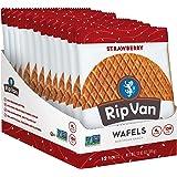 Rip Van Wafels Non-GMO Snack Wafels, Strawberry, 12 Count, 13.92 OZ, low calorie & low sugar