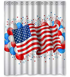 Independence Day 4th Of July Waterproof Polyester Fabric 60w X 72