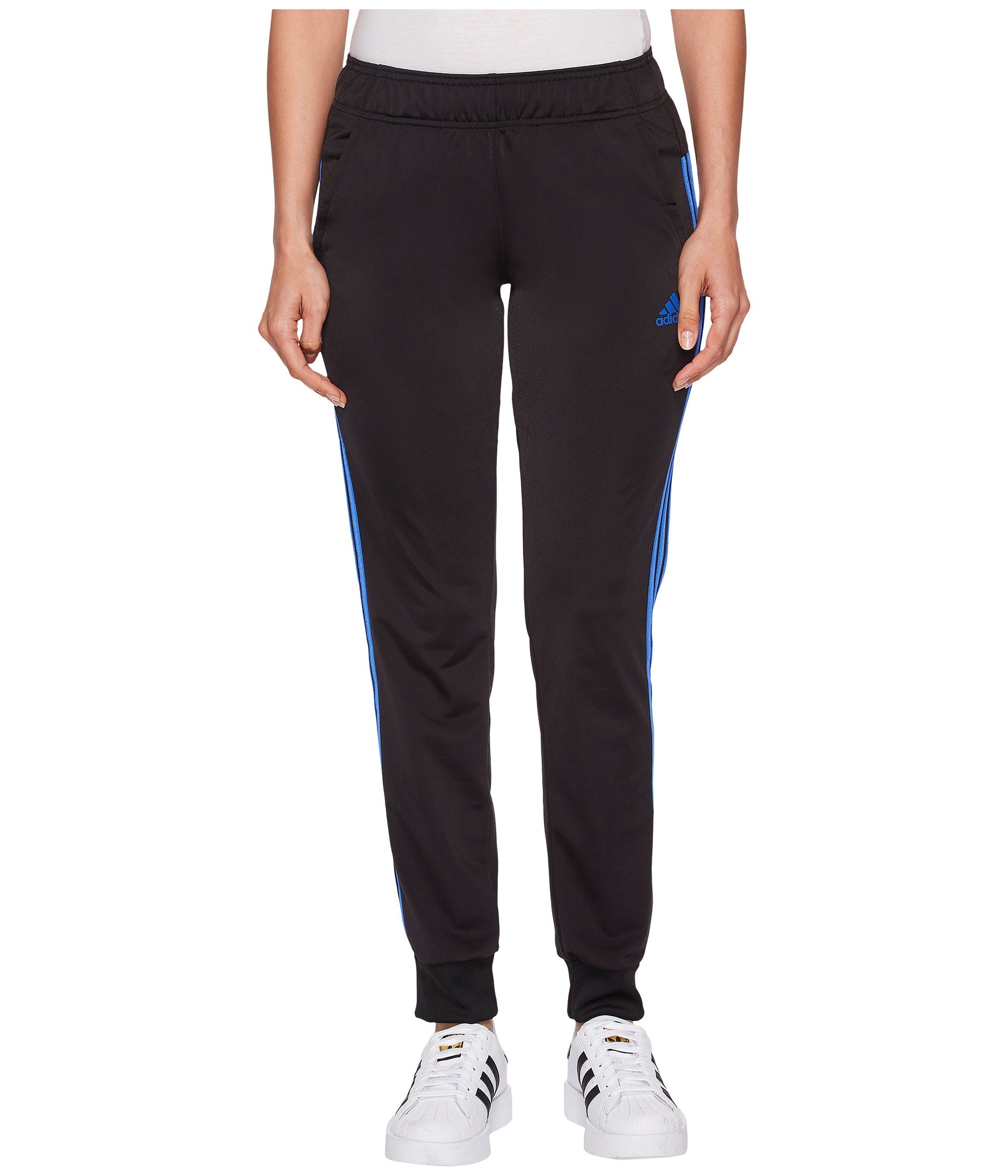 adidas Women's D2M Cuff Pants Black/High-Res Blue Large R