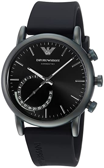 b4f88e8b9cdc Emporio Armani Reloj Analogico para Hombre de Cuarzo con Correa en Silicona  ART3016  Amazon.es  Relojes