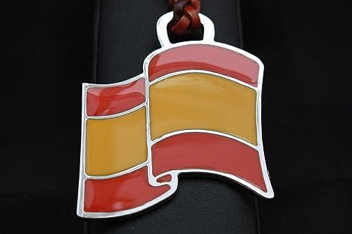 Llavero Cuero Trenzado Bandera de España: Amazon.es: Handmade