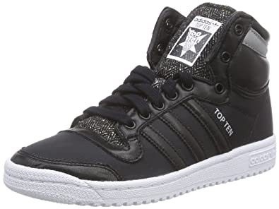 adidas Unisex Adults' Top Ten Hi Winterized Low-Top Sneakers Black Size: 4