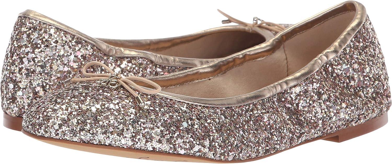 Molten gold Chunky Glitter Sam Edelman Women's Felicia Ballet Flat