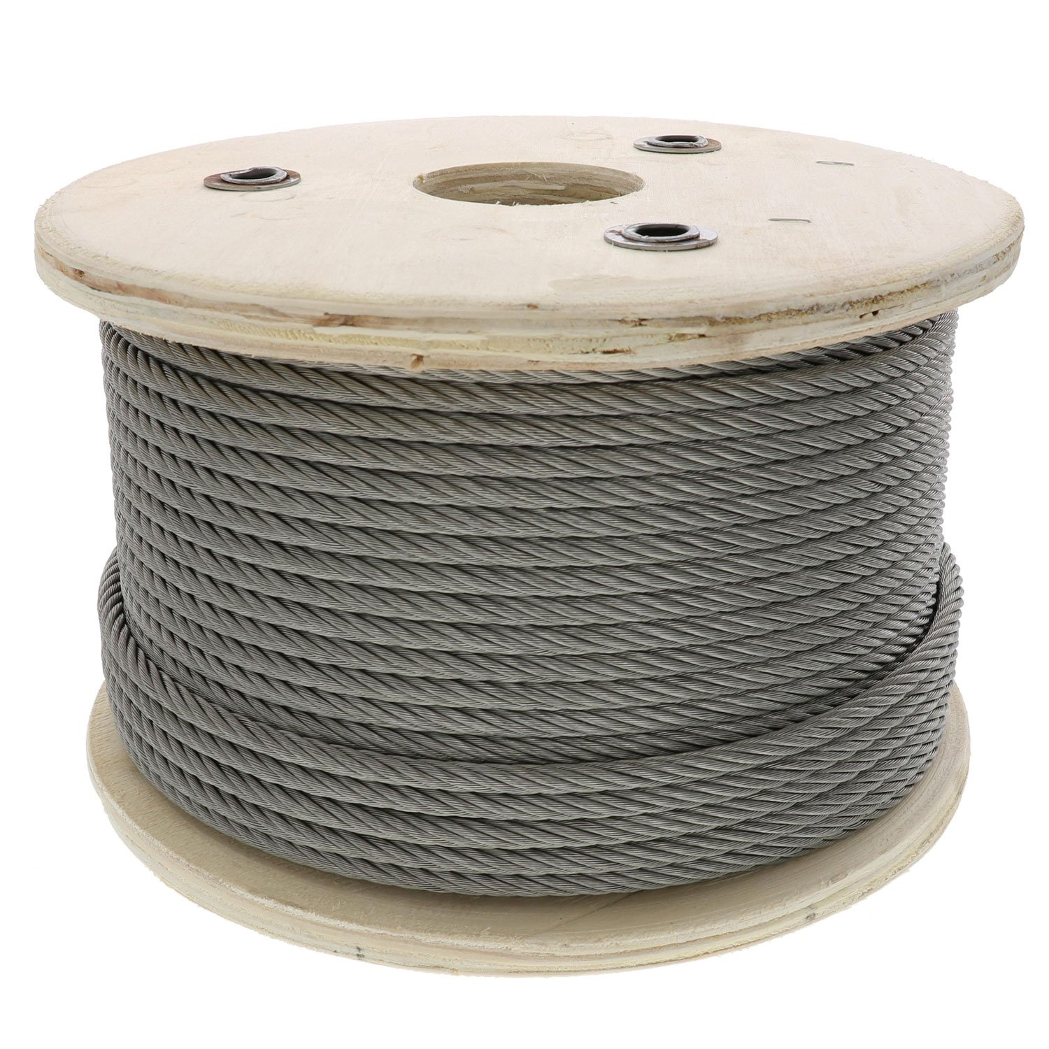 7//32 Coated OD 7x19 Strand Core 2000 lbs Breaking Strength Loos Galvanized Steel Wire Rope Orange 1//8 Bare OD Vinyl Coated 25 Length