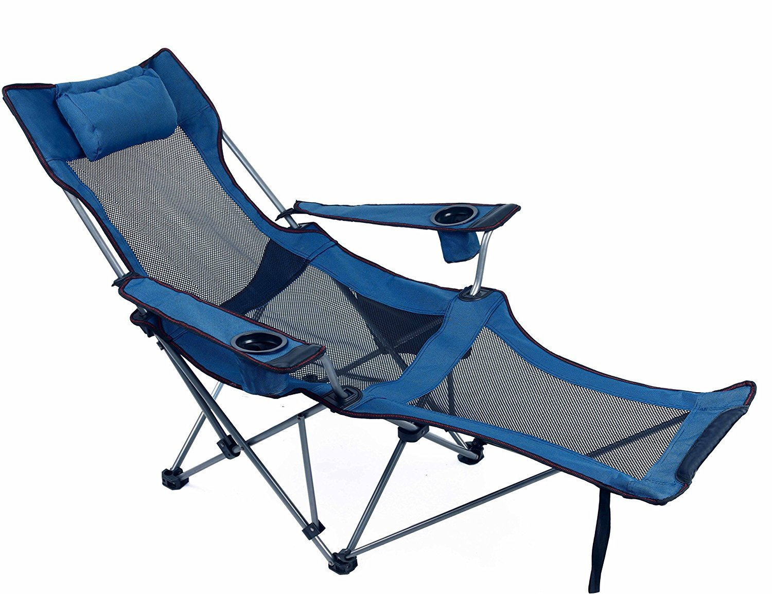RORAIMA Light Weight Backpacking Reclining/Lounging Camping Folding Chair with Headrest and Footrest for Outdoor Camping RV BBQ Football Games [並行輸入品] B074DFZJ2M