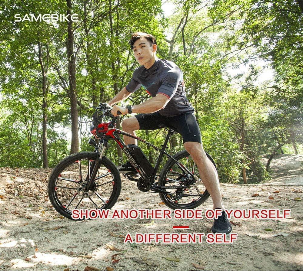SAMEBIKE MY-SM26 Bicicleta de montaña eléctrica de 26 pulgadas, 48 V, 350 W, Ebike 3 modos, 21 velocidades, LCD para adultos, MY-SM26, negro: Amazon.es: Deportes y aire libre