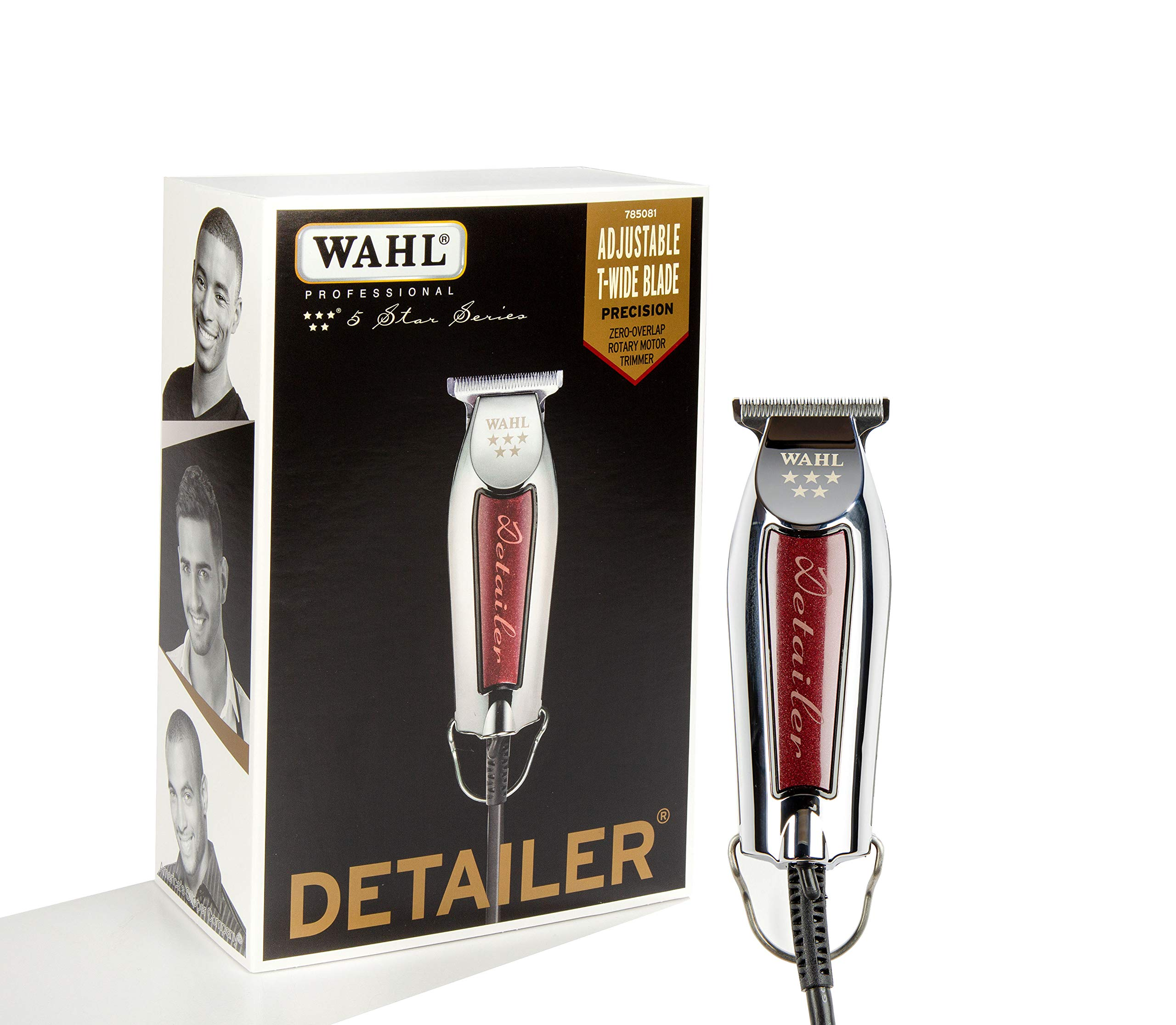 Wahl Professional Series Detailer #8081 - With Adjustable T-Blade, 3 Trimming Guides (1/16 inch - 1/4 inch), Red Blade Guard, Oil, Cleaning Brush and Operating Instructions, 5-Inch - 81HGkJqLNWL - Wahl Professional Series Detailer #8081 – With Adjustable T-Blade, 3 Trimming Guides (1/16″ – 3/16″), Red Blade Guard, Oil, Cleaning Brush and Operating Instructions, 5-Inch