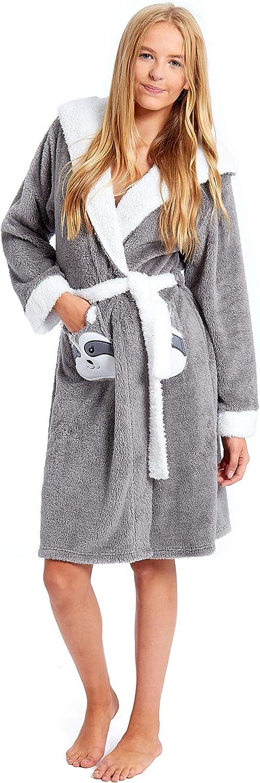 Vetements Robes De Chambres Et Kimonos Slumber Hut Filles Flamant Robe De Chambre Polaire Pour Enfants Animal Vetement De Nuit Avec Capuche Noir Rose Taille 7 A 13 Ans