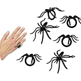 Play Kreative Halloween Spider Rings – Pack of 144 PCS Spider Party Favors Loot Trick-or-treat