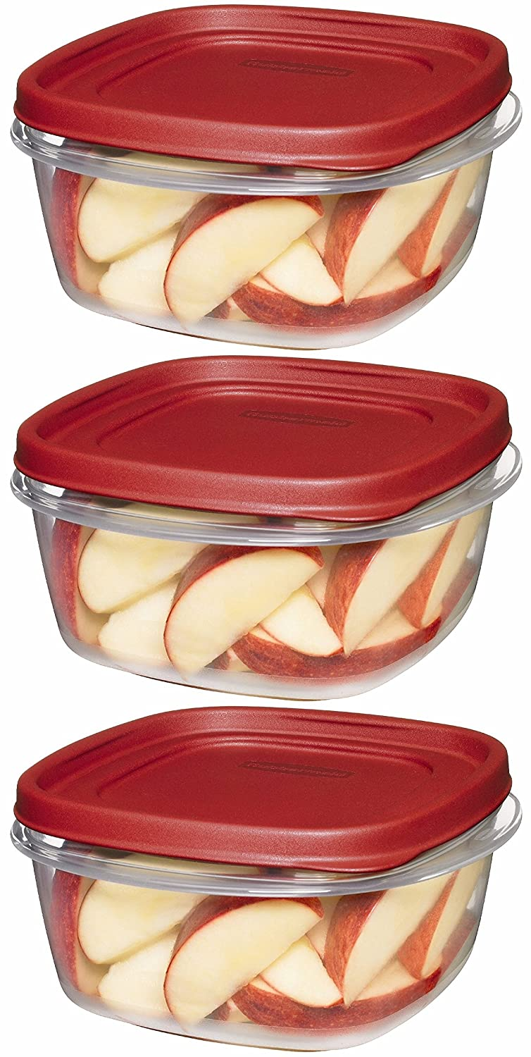 Rubbermaid Easy Find Lid Square 5-Cup Food Storage Container Pack of 3