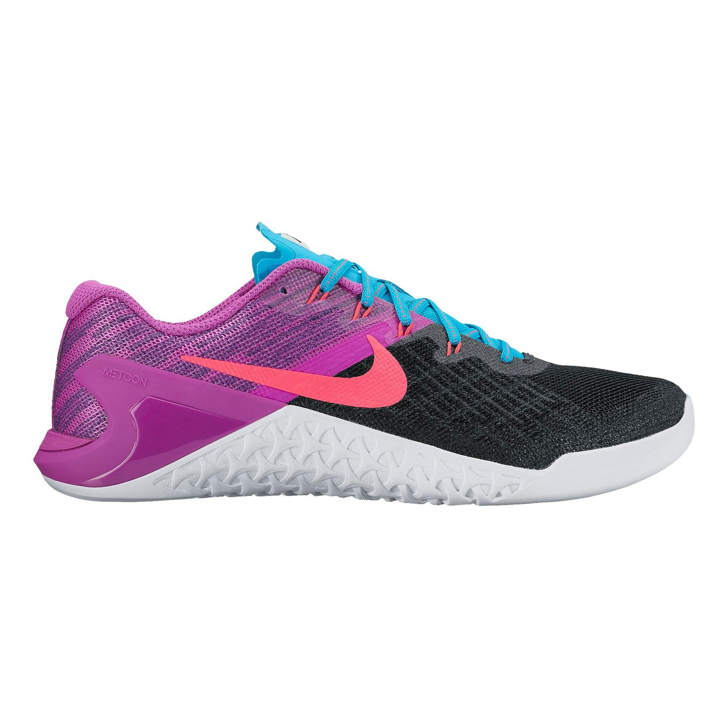 Nike Women's Metcon 3 Training Shoes Black / Racer Pink - Hyper Violet 849807-002 (7) by NIKE (Image #1)
