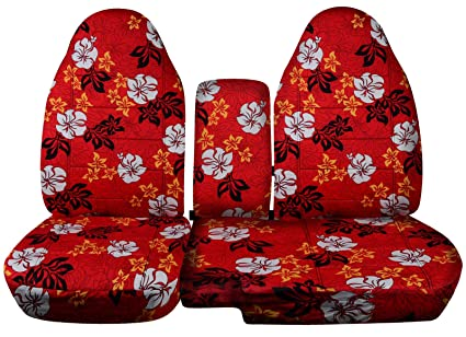 Incredible Totally Covers Fits 1998 2003 Ford Ranger Mazda B Series Hawaiian Truck Seat Covers 60 40 Split Bench With Center Console Armrest Cover Red 4 Pabps2019 Chair Design Images Pabps2019Com