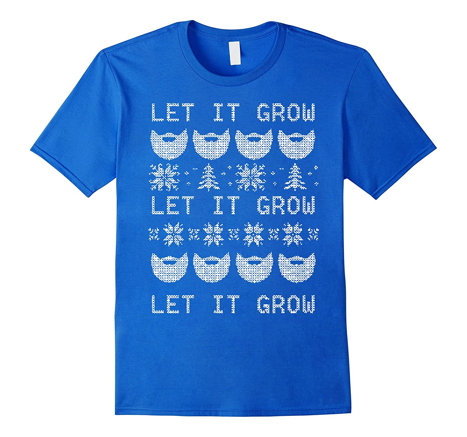 1178b2a3 Let It Grow Beard T Shirt Funny Christmas T Shirt Rt Rateeshirt
