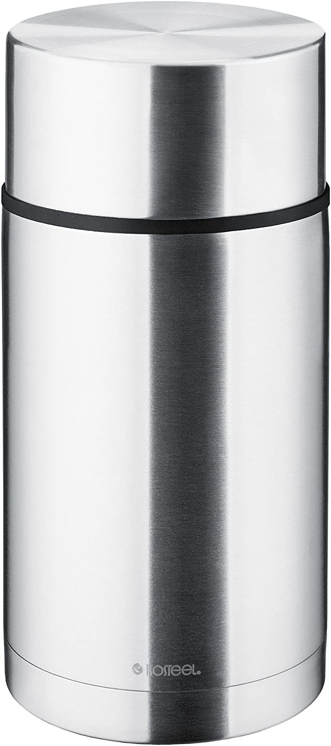 Isosteel Vacuum Food Container, Stainless Steel, Silver, 10 x 15 x 20 cm