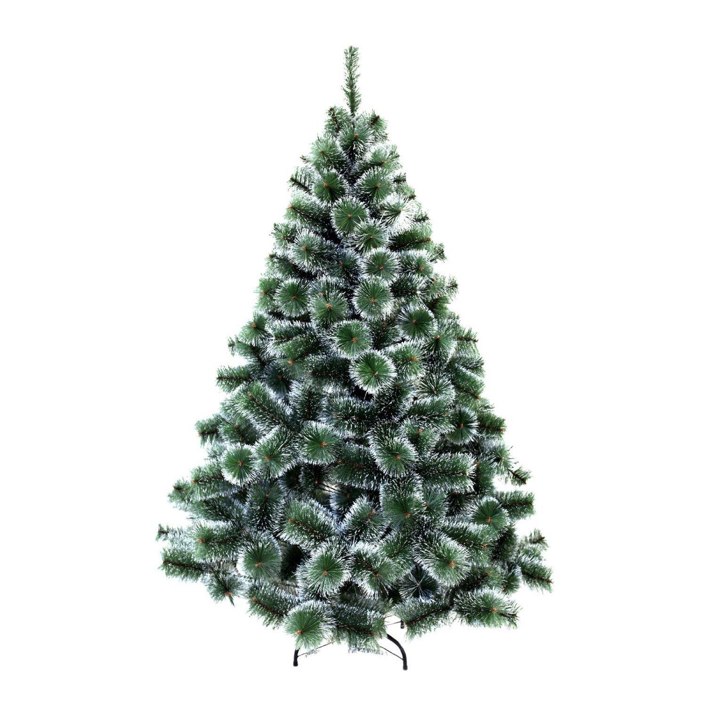 HENGMEI 180cm PVC Weihnachtsbaum Tannenbaum Christbaum Grün künstlicher mit Metallständer ca. 600 Spitzen Lena Weihnachtsdeko (Grün PVC mit Schnee-Effekt, 180cm) B07H5FK417 Künstliche Weihnachtsbume
