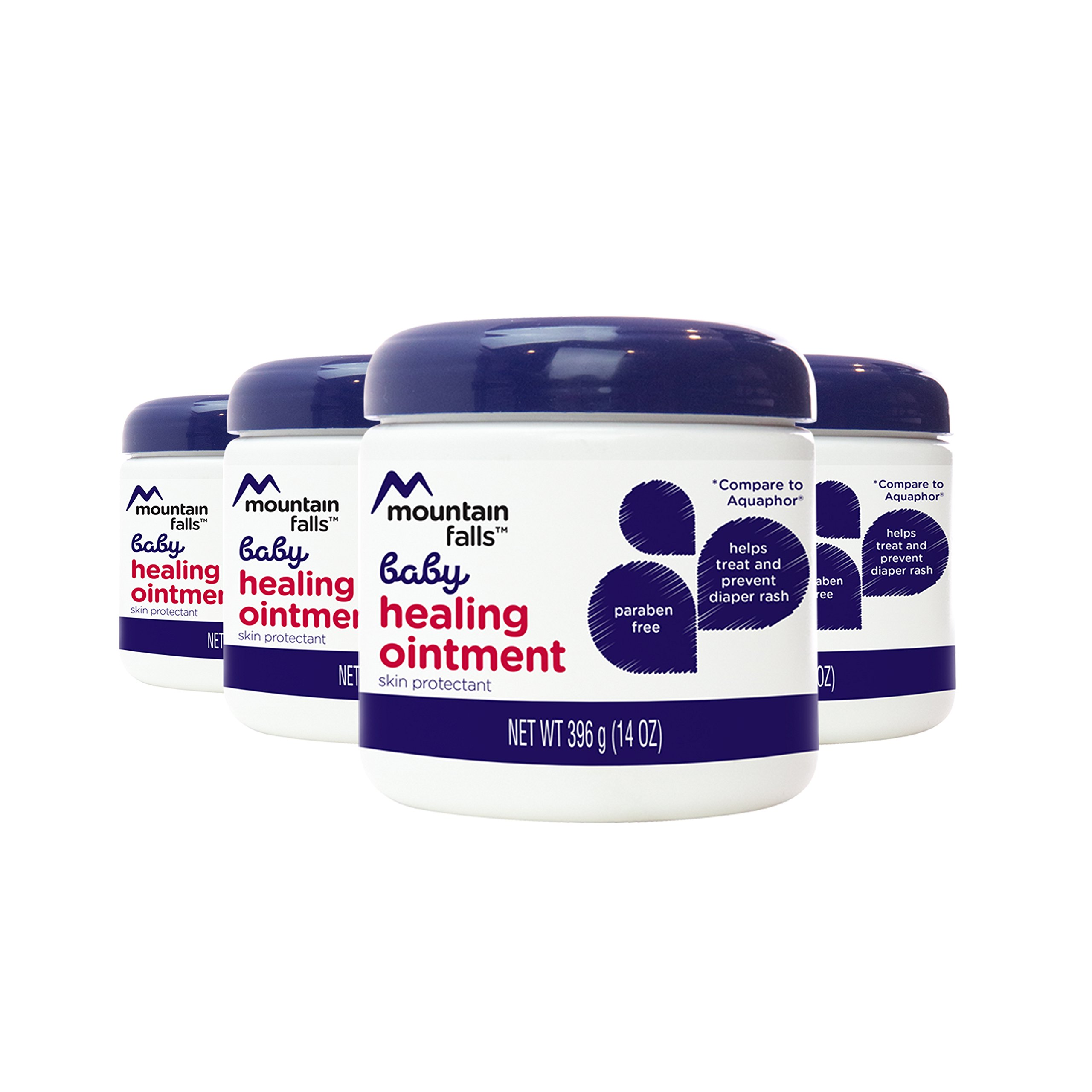 Mountain Falls Baby Healing Ointment for Diaper Rash, 14 Ounce (Pack of 4) by Mountain Falls