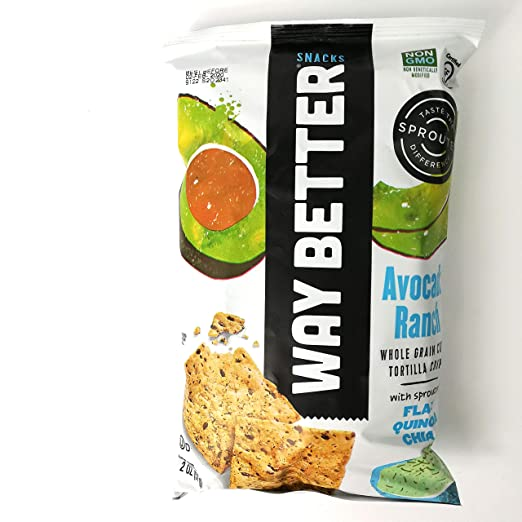 Way Better Snacks Sprouted sin gluten Tortilla Chips, Sweet ...
