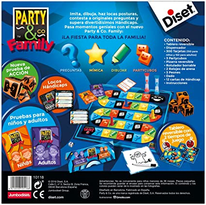 Diset - Party & Co Family, (ref. 10118): Amazon.es: Juguetes y juegos