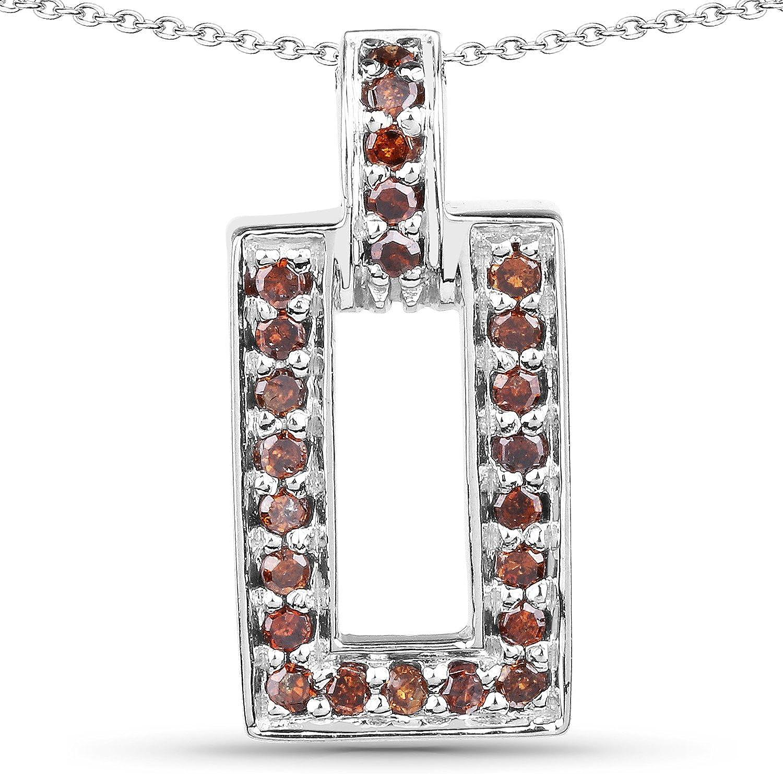0.36 Carat Genuine Red Diamond .925 Sterling Silver Pendant