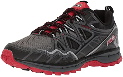 Fila Mens Memory TKO TR 5.0 Trail Running Shoe Castlerock/Dark Shadow red, 7