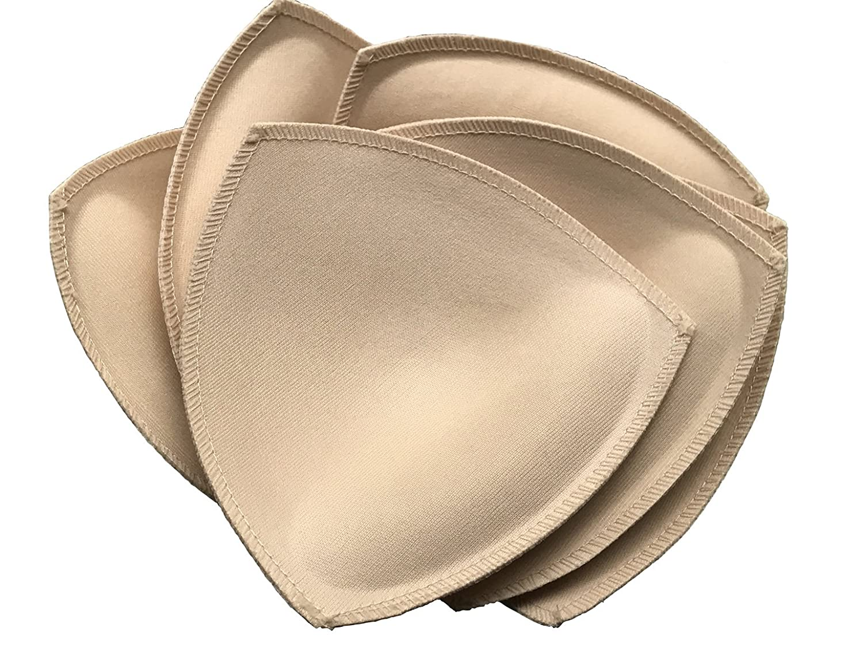 3 Pairs Removable Bra Inserts Sport Swimwear Bra Pads (4.73X5.12 Inch)