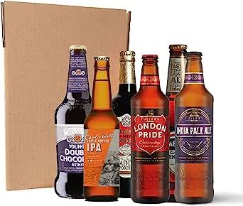 Pack de cervezas británicas (24 botellines/latas de 33 cl y 50 cl ...