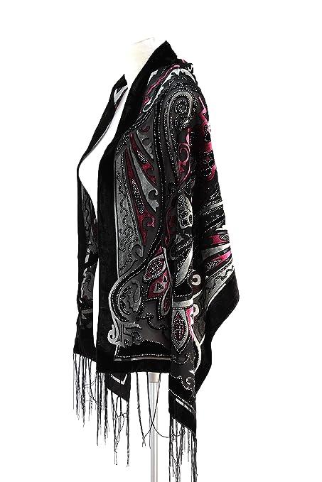 fcc8db555 Amazon.com: New Elegant Vintage Floral Multi-Color Silk Burnout ...