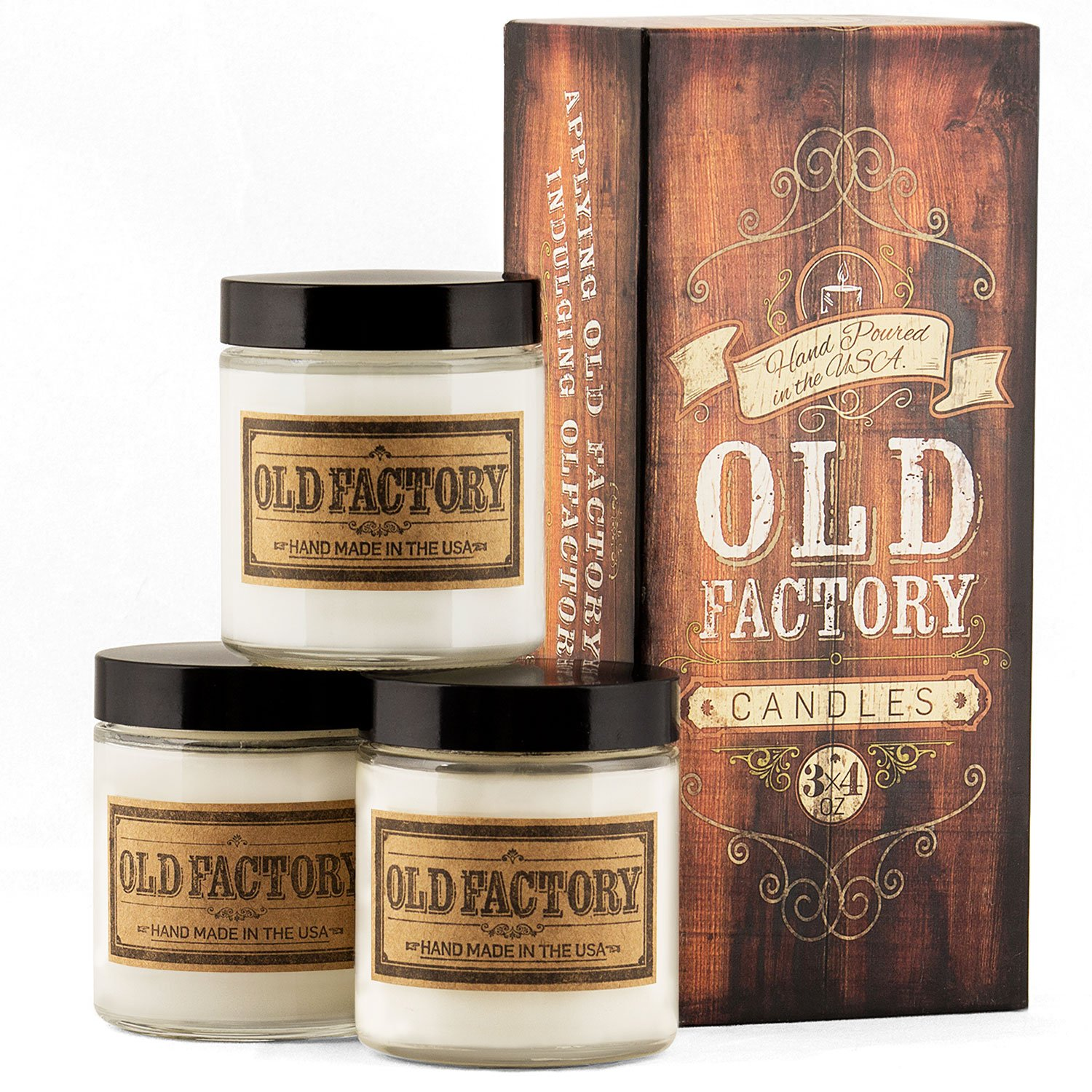 Old Factory Scented Candles - Coffee Shop - Set of 3: Coffee Bean, Hazelnut, and Chai Tea - 3 x 4-Ounce Soy Candles - Each Votive Candle is Handmade in the USA with only the Best Fragrance Oils by Old Factory (Image #3)