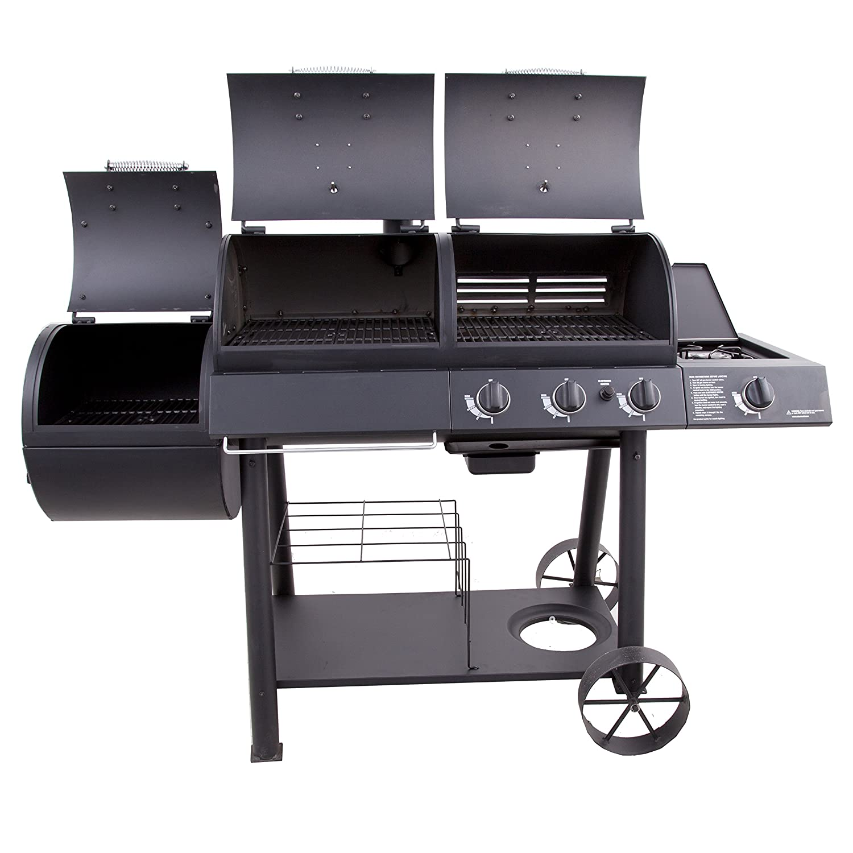 amazon com char broil oklahoma joe u0027s charcoal gas smoker combo