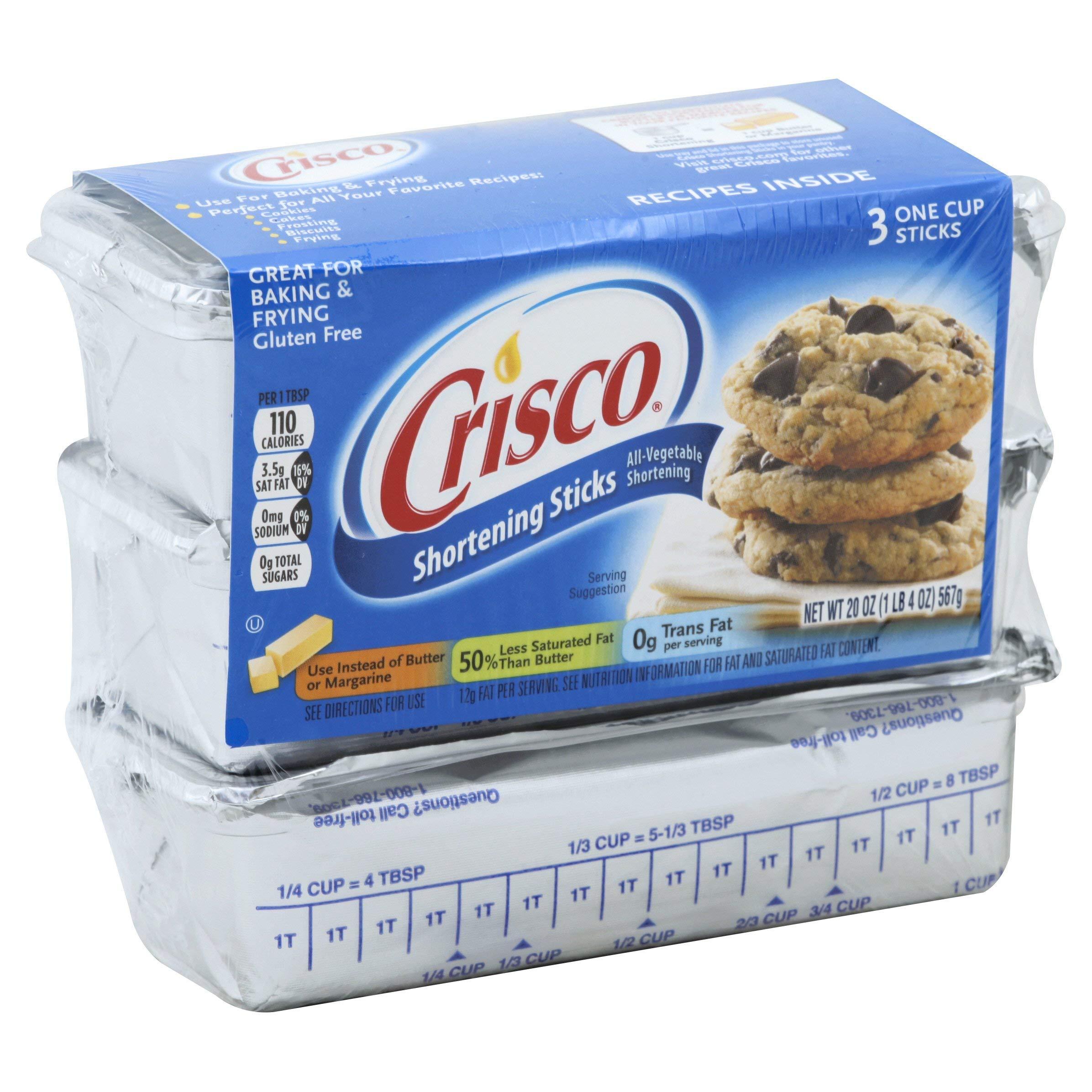 Crisco All-Vegetable Shortening Baking Sticks, 20 Ounces, 12 Count by Crisco