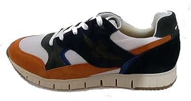 Aeronáutica Militar Zapatillas Sneaker SC140, naranja-azul, hombre, sudadera, jersey, polo Naranja Size: 44 EU: Amazon.es: Zapatos y complementos