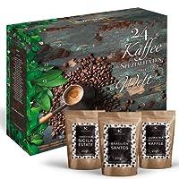 Kaffee-Adventskalender I Weihnachtskalender mit 24 edlen Kaffees aus aller Welt I Kaffeekalender als Geschenk für Erwachsene I Kaffee Geschenkset in der Weihnachtszeit Adventszeit