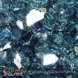 "Starfire Glass 10-Pound ""Fire Glass"" 1/2-Inch Pacific Blue (Reflective Supreme)"