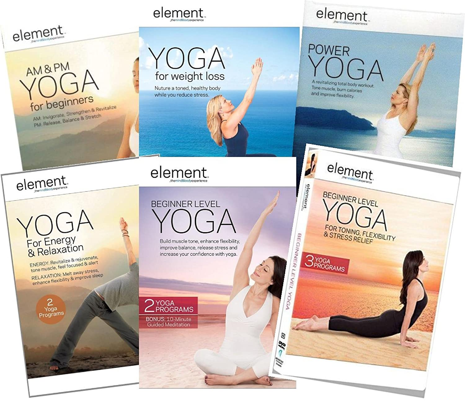 Amazon.com: Element Yoga: Ultimate 6-DVD Collection - AM ...