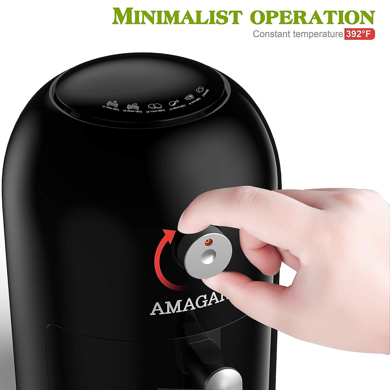 Amazon.com: Freidora de aire compacta/freidora eléctrica de ...