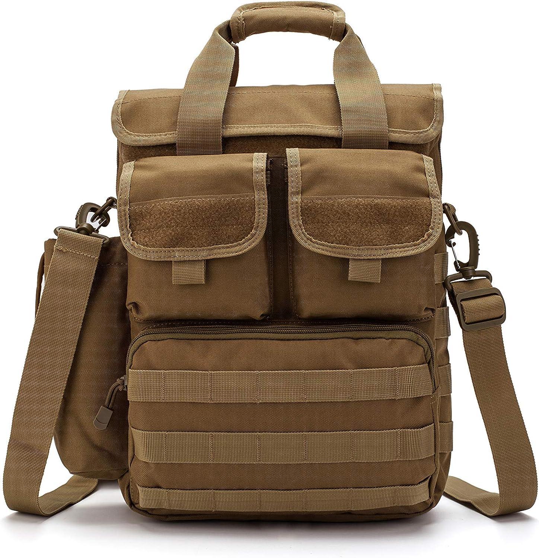 Tactical Military Laptop Messengen Bag Computer Shoulder Bag Men Handbags Heavy Duty with Shoulder Strap