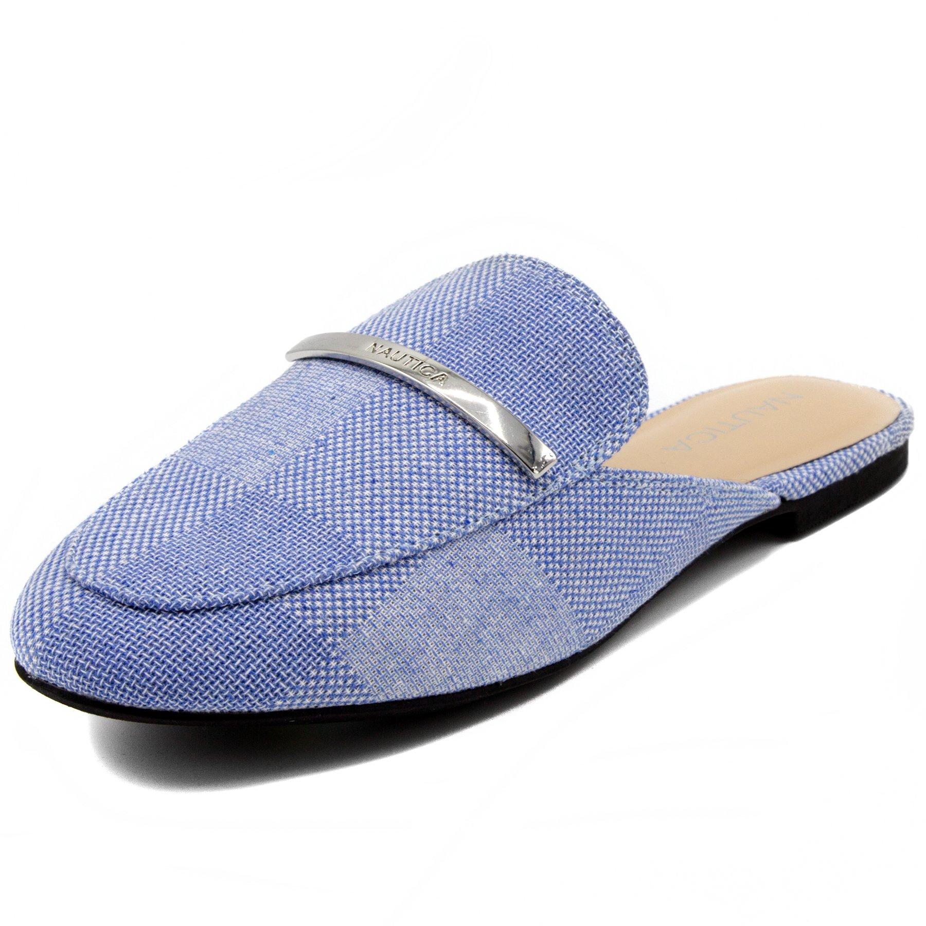 Nautica Women's Labella Mule Slide Backless Slip On Loafers-Blue -6