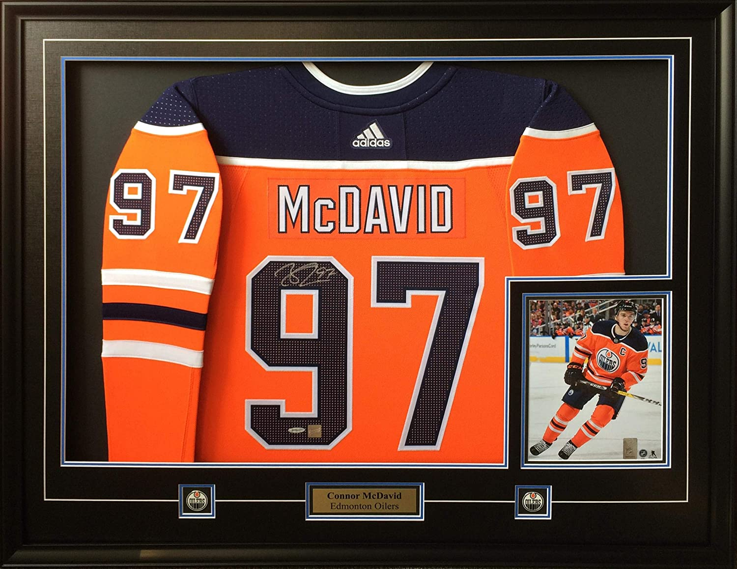 cheap for discount a00fb 4e617 Autographed Connor McDavid Jersey - Frameworth Framed Pro ...