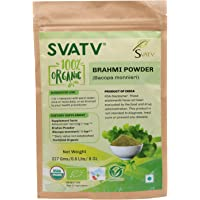 SVATV Brahmi Powder/Bacopa 1/2 LB USDA Certified Organic- Ayurvedic Herb for Memory & Focus*